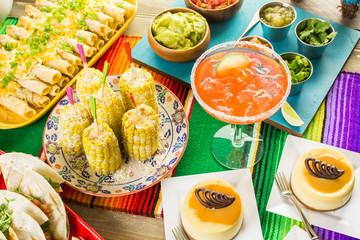 Fiesta buffet table
