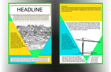 brochure template with cityscape color