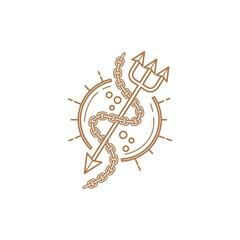 spear line logo vector