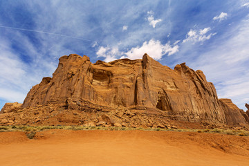 red rock formation in monument valley, arizona