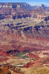 colors of the Grand Canyon and a bend in the Colorado River