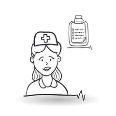 Medical care design. health care icon. sketch illustration