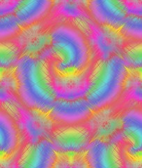 Vibrant colored seamless pattern. Swirl decorated wallpaper