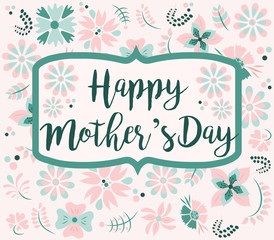 Mother's Day card with flower background