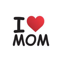 Love Family Symbol. i love mom. Creative Design