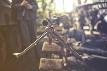 close up on heavy machine gun