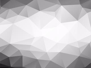 triangles background black and white low poly
