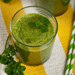 Green Vegetable Smoothie. Selective focus.