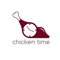 chicken time concept restaurant vector design template