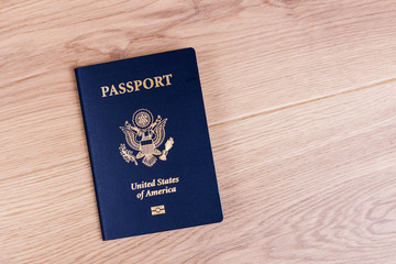 American passport on desktop