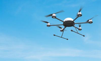 Quadrocopter in sky