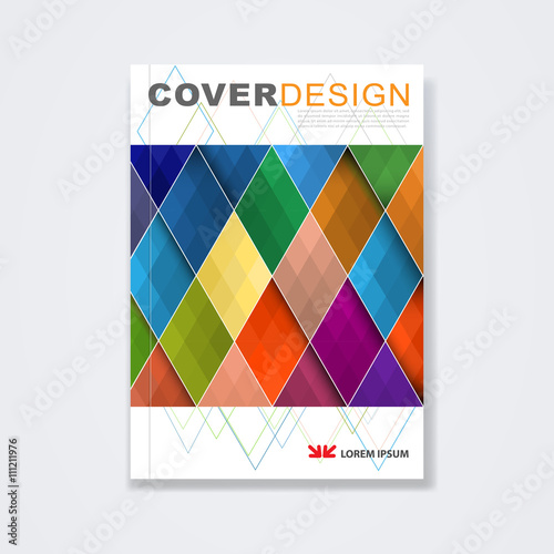 Cover template, brochure template layout, book cover, annual report ...