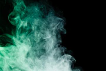 Abstract virid smoke hookah.