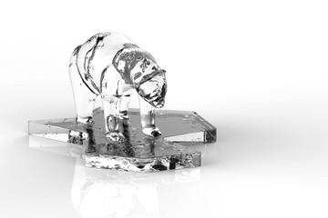 Melting Polar Bear / Climate Change / 3D Rendering