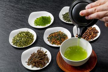 おいしい日本茶いろいろ  Various Japanese green tea Wall mural