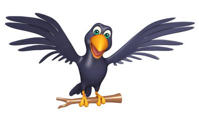 sitting Crow cartoon character
