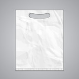Disposable Plastic Bag Package Grayscale Template\