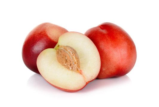 Nectarine fruit isolated on the white