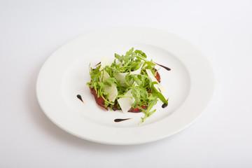 Arugula salad with cheese