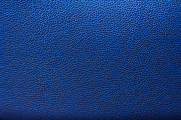 Blue leather texture, Blue leather bag, Blue leather background.
