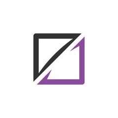 Square vector logo icon