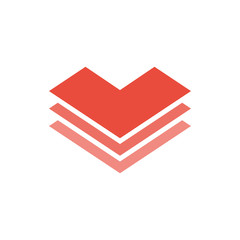 Heart logo icon vector