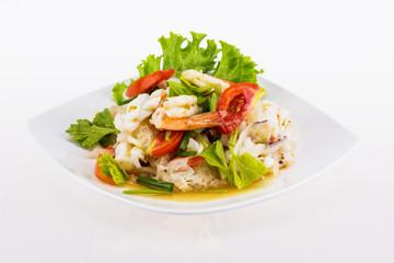 Seafood salad spicy food