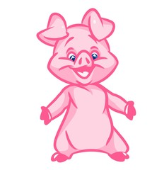 Little pig  image animal character  cartoon illustration