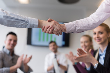 business womans handshake
