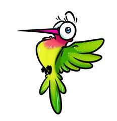 Bird hummingbird cartoon illustration isolated image animal character