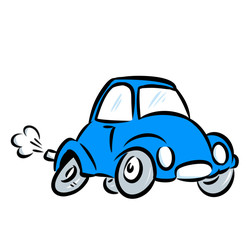blue car illustration fast rides cartoon illustration