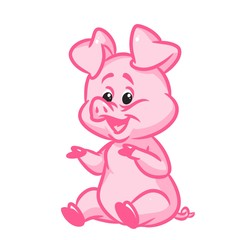 Little pig  image animal character  cartoon illustratio
