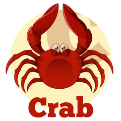 ABC Cartoon Crab