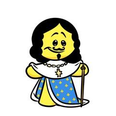 Smiley character king France Louis 13 cartoon illustration  image