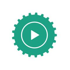 Gear logo icon Vector