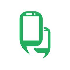 Mobile Smart Phone logo icon Vector