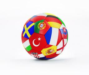 Fußball mit Nationalflaggen EM 2016