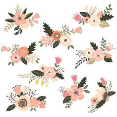 Vintage Floral Bouquet Set