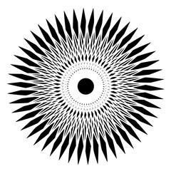 Sun shaped geometric optical illusion