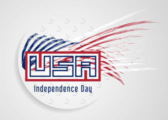 Independence Day Background. Abstract grunge vector with stars & stripes. EPS 10.