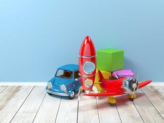 toys at wall