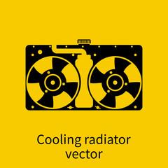 Car radiator icon.