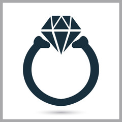Women ring icon on the background
