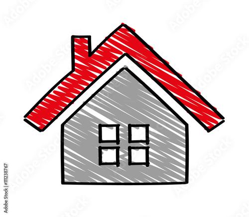 Haus gezeichnet stockfotos und lizenzfreie vektoren auf for Modernes haus gezeichnet