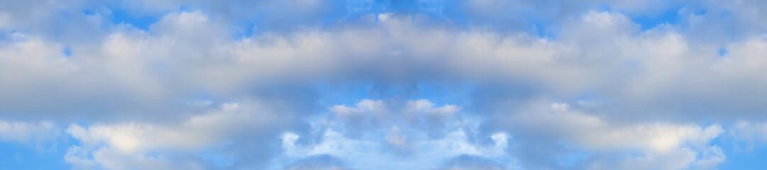 panorama blue sky white clouds blur