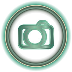 Blue and Gray Beautiful Volume icon Camera