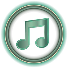 Blue and Gray Beautiful Volume icon Music