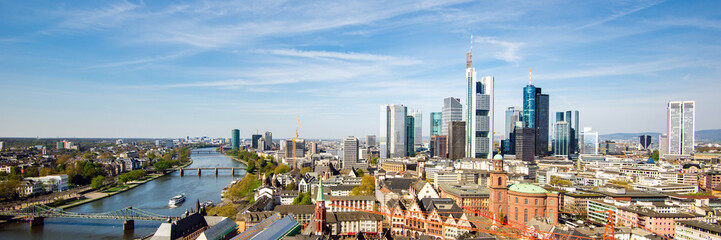 Skyline von Frankfurt am Main, Deutschland, Panorama