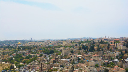 JThe panoramic view of Jerusalem