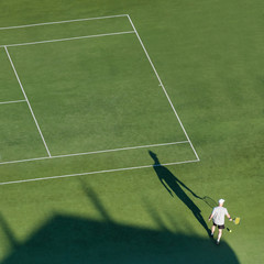 Man on the tennis court.
